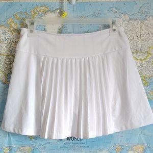 Fila Shorts - Fila White 100 Year Anniversary Pleated Skort S